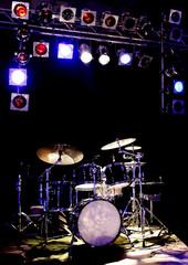 Konzert Poster mit Schlagzeug