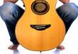 Go Folk - Guitar between his legs