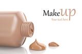 Fototapety Makeup foundation cream isolated on white background