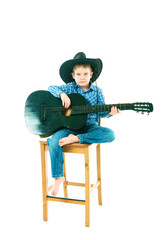 the boy with a black guitar
