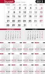 Kalendarium 2013 polsko-angielsko-niemieckie