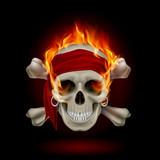 Fototapety Skull in Flames