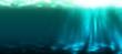 Leinwanddruck Bild - Unterwasser, lang, türkis