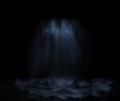 Leinwanddruck Bild - Unterwasser, Nacht