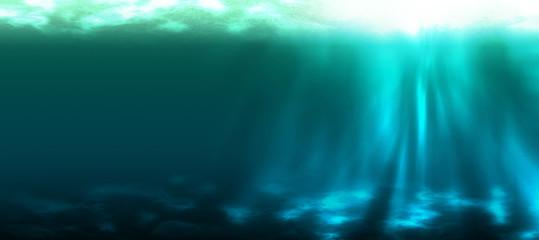 Unterwasser, lang, türkis