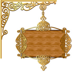 of the Board forged gold ornament for posts