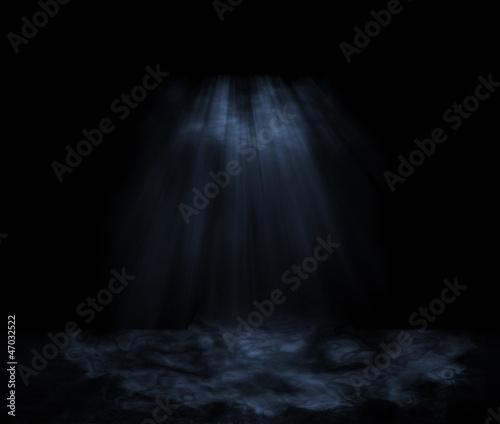 Leinwanddruck Bild Unterwasser, Nacht