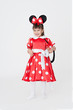 Cute girl wearing carnical costume of a mouse