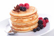 pancakes with berries fruits