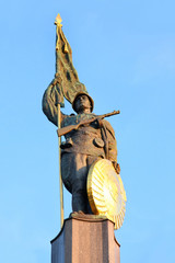 The Heroes' Monument of the red army in Vienna, Austria
