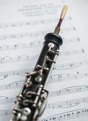 Eine französische Oboe, Blasinstrument aus Holz