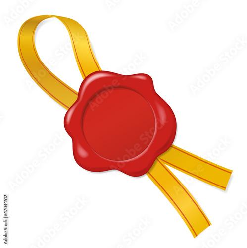 Siegel mit goldenem Schleifenband