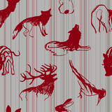 Forest animals / Scandinavian seamless pattern