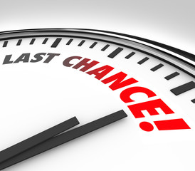 Last Chance Clock Final Countdown Deadline Time