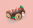 Log cake for Christmas