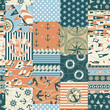 Nautical patchwork seamless pattern