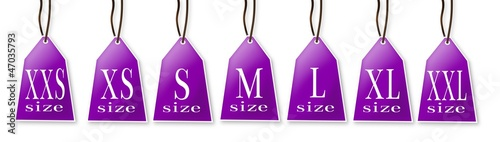 Clothing size labels.