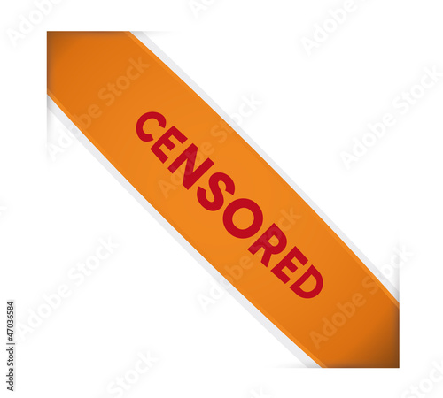 Censored ribbon