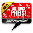 Aktionspreis, Vektor button