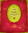 Christmas Tree, Vintage Christmas New Years Greeting Card
