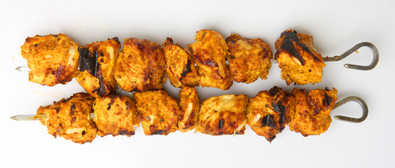 Chicken Tikka on Kebab Skewers