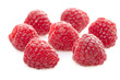 Raspberry fruit isolated on white background