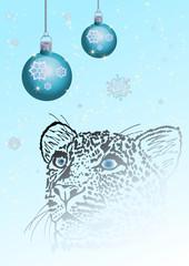 Wintergrüße mit Schneeleopard