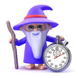 Wizard with stopwatch