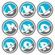 Swoosh Alphabet Icons Set 2