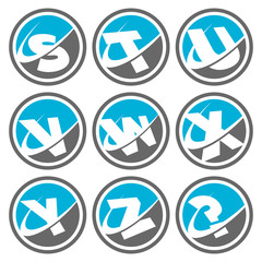 Swoosh Alphabet Icons Set 3