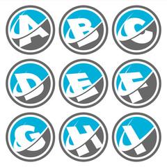 Swoosh Alphabet Icons Set 1