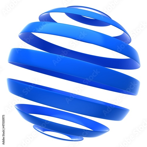 abstract globe icon isolated on a white background