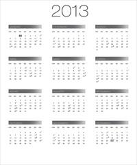 calendário 2013 moon_cinza PT