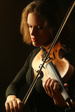 Violin violinist Orchestra player poster