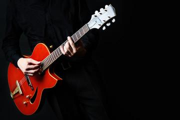 Guitar electric Guitarist playing.