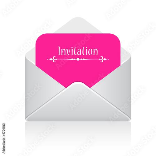 Invitation envelope icon