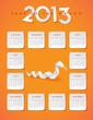 2013 year of the snake calendar