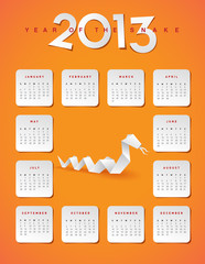 2013 year of the snake calendar