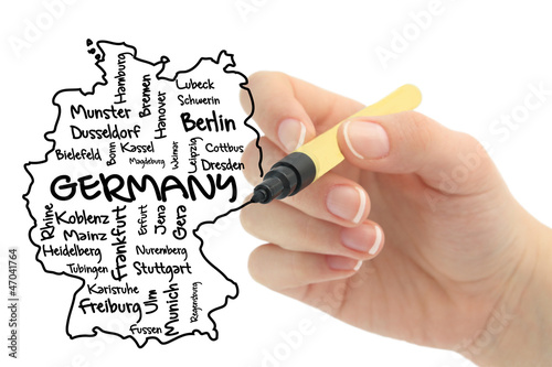 germany on whiteboard