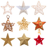 Christmas stars isolated on white