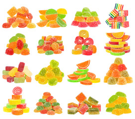 Candy set isolated