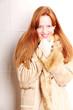 Frau in Winterkleidung