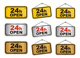 24 hour open sign