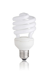 Energy saving light bulb isolated on white background