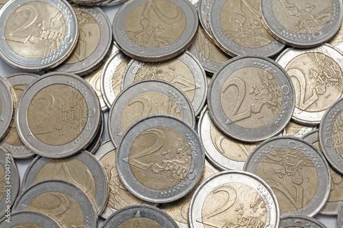 Two euros coins