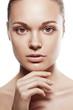 perfect beauty woman closeup portrait
