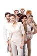 Junge gruppe team mit menschen verschiedenen alters business in
