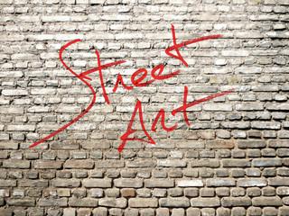 Street Art red graffiti