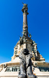 the Columbus Monument in Barcelona, Spain