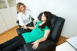 pregnant woman at therapy